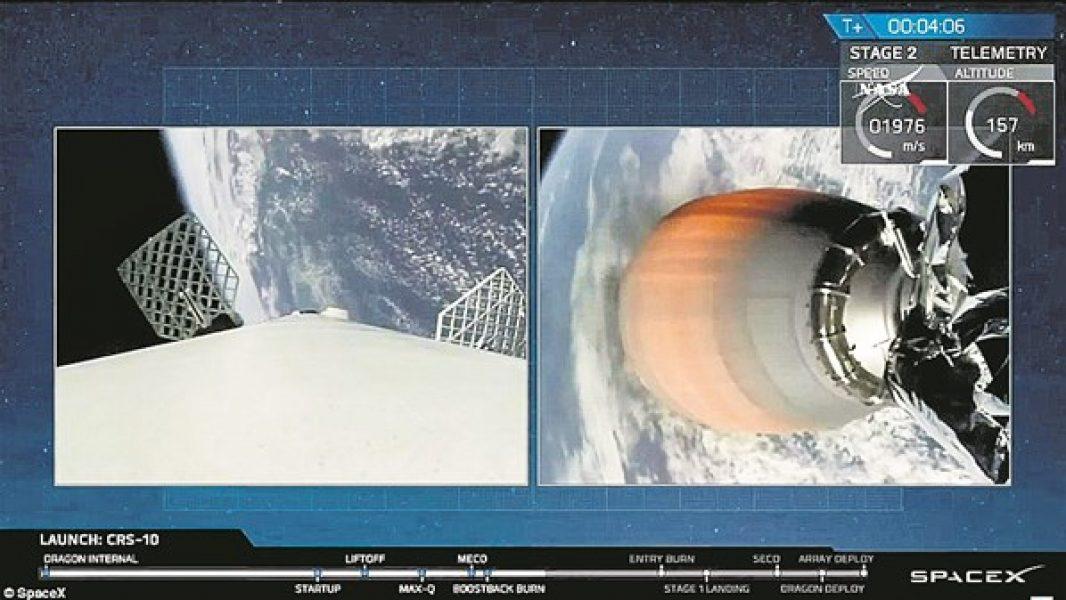 Uzaya gönderilen roket yarım saat sonra geri döndü