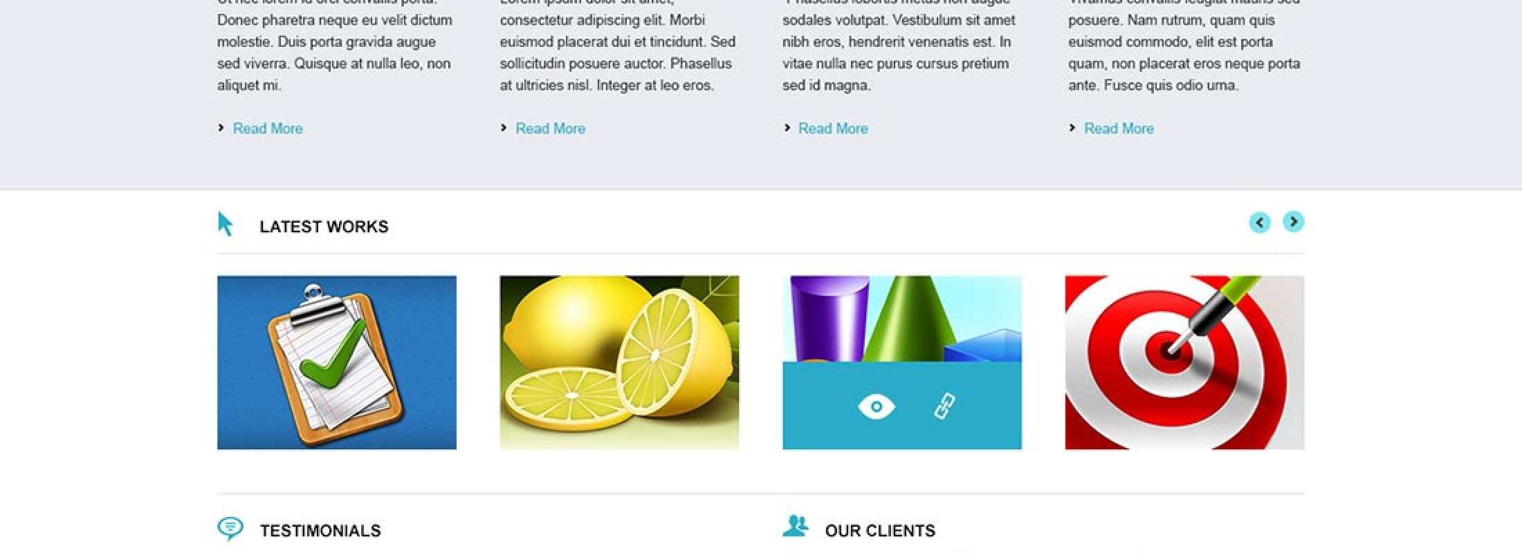Modern iş web sitesi psd şablonu- Business website portfolio psd template